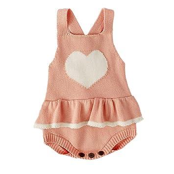 4827f8eda Amazon.com  Newborn Baby Knit Overalls