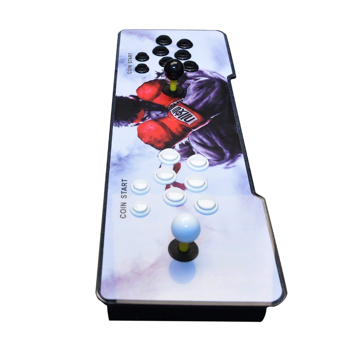 【2400 Games in 1】 Arcade Game Console Ultra Slim Metal Double Stick 2400 Classic Arcade Game Machine 2 Players Pandoras Box 6S 1280X720 Full HD Video Game Console for Computer & Projector & TV by TanDer (Image #3)