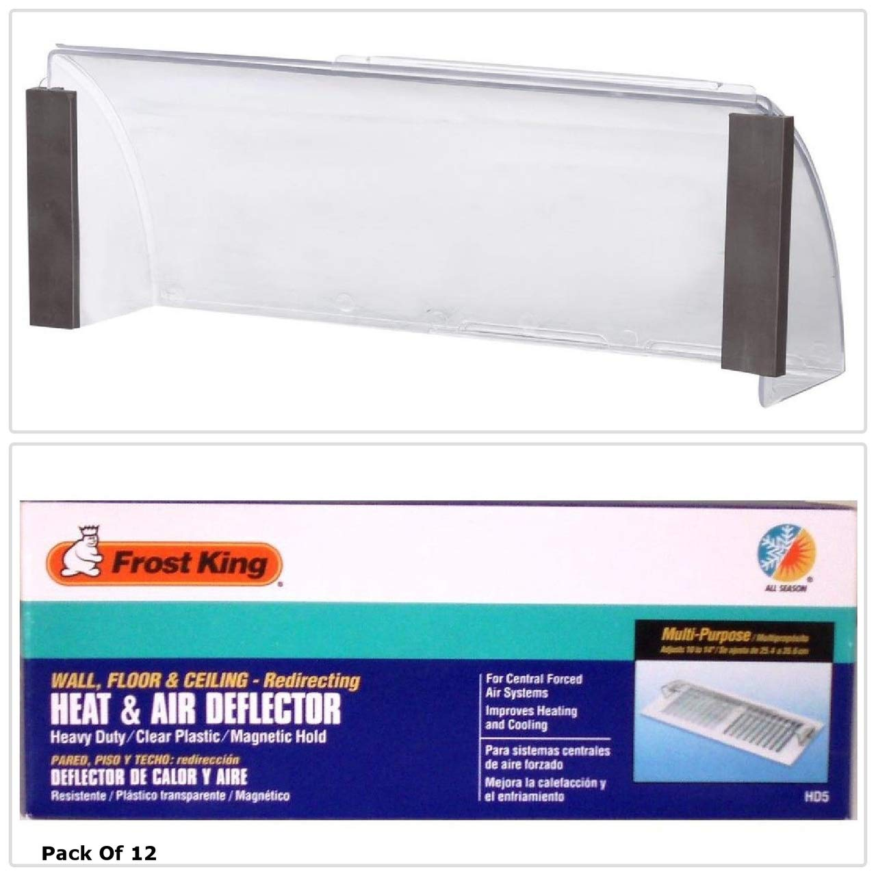 """Thermwell #HD5 10-14"""" Adjustable Heat Deflector - Pack of 2"""