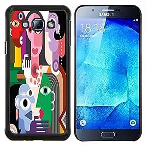 Dragon Case - FOR Samsung Galaxy A8 A8000 - The Masked woman - Caja protectora de pl??stico duro de la cubierta Dise?¡Ào Slim Fit