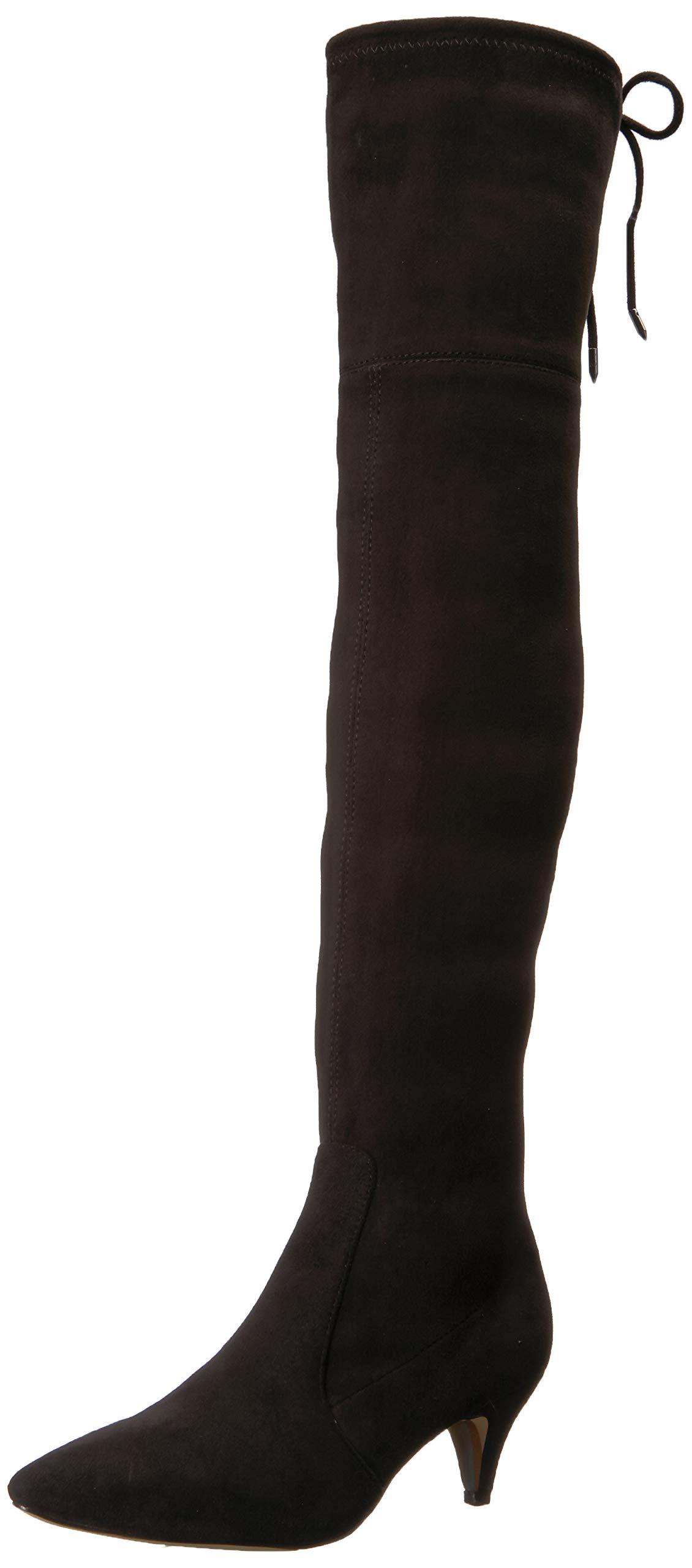 Sam Edelman Women's Kristie Over The Over The Knee Boot, Black, 8 M US by Sam Edelman