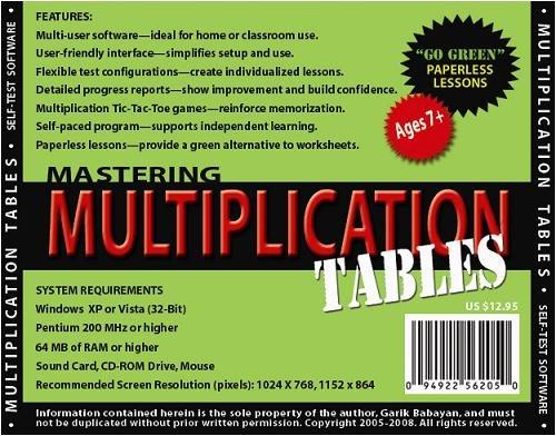 Amazon.com: Mastering Multiplication Tables