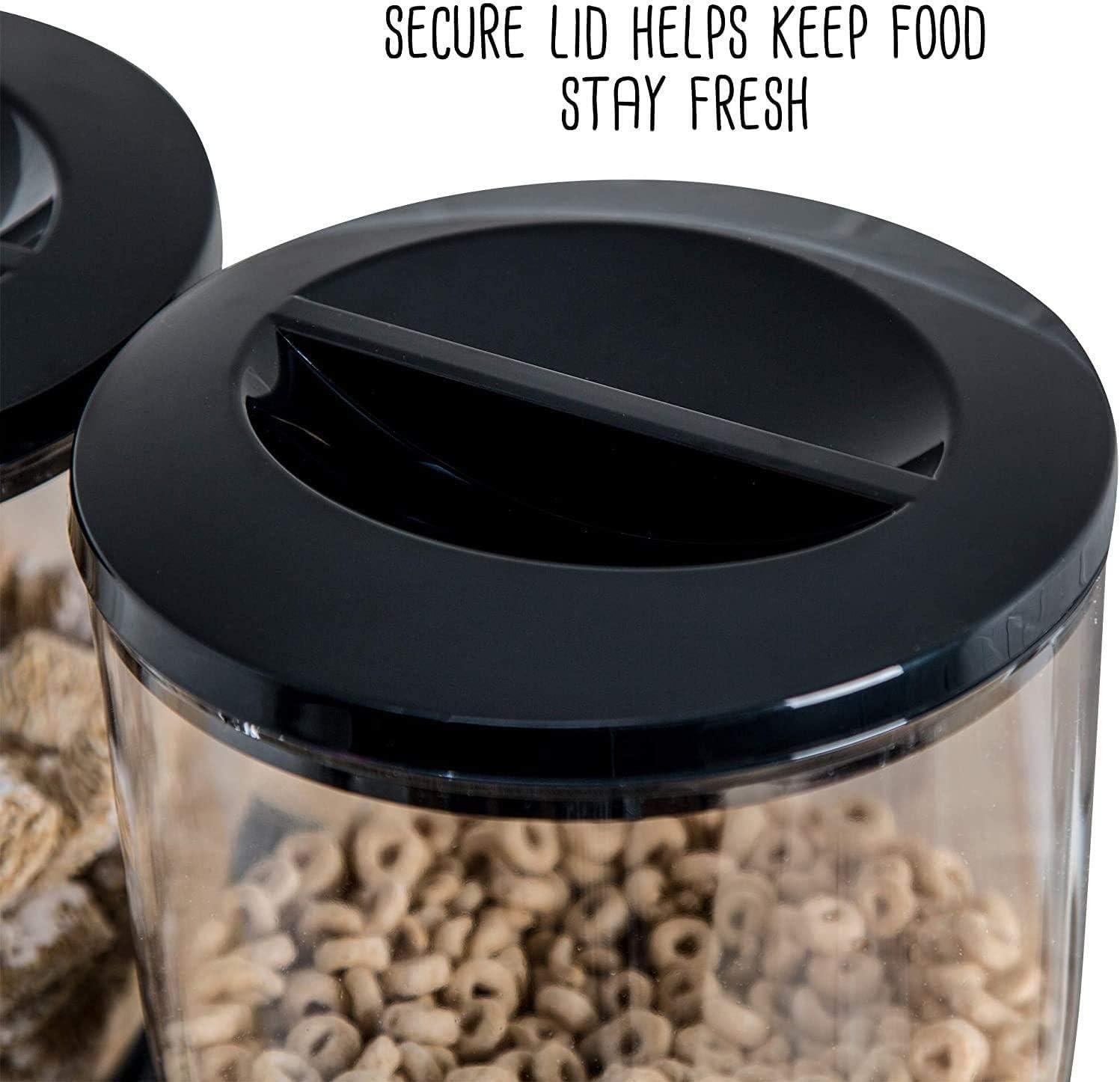 cucina Dispenser doppio per cereali Enyaa caramelle bancone con vassoio raccoglibriciole integrato mangime per animali domestici colazione ideale per casa Dispensa doppia arancione