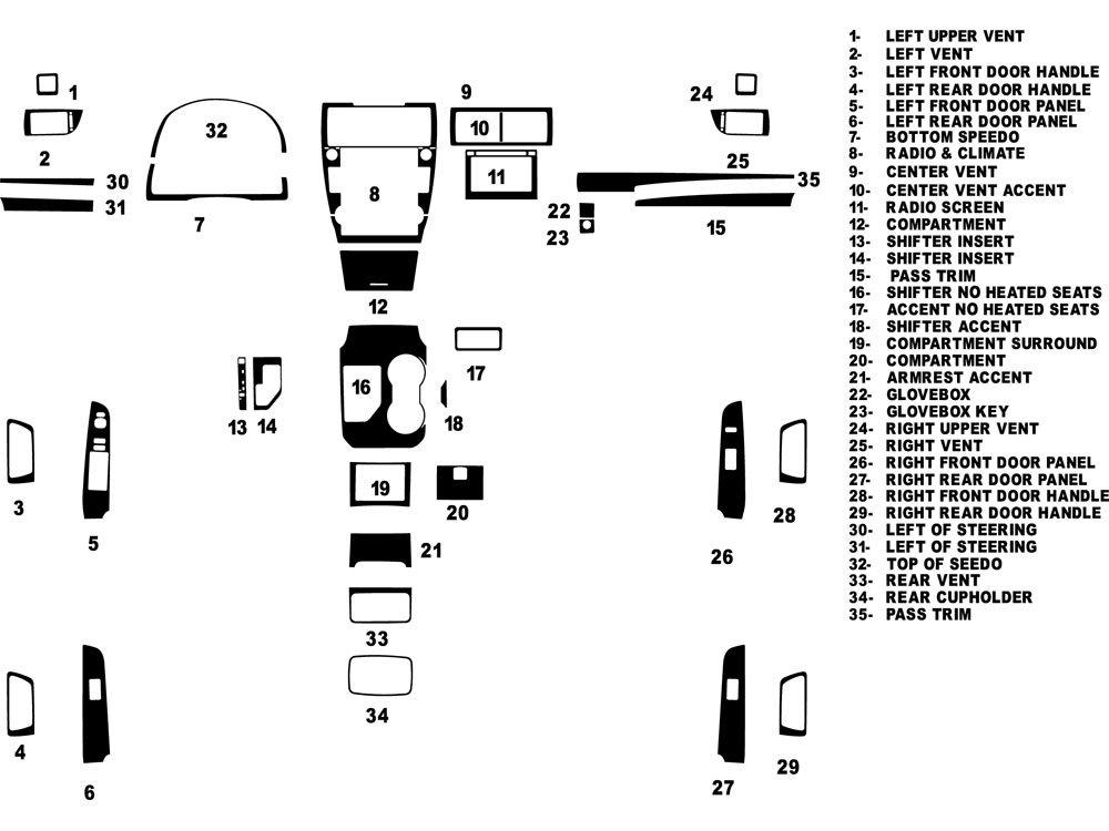Rdash Dash Kit Decal Trim for Toyota Camry 2012-2014 - Carbon Fiber 4D (Black) Rvinyl