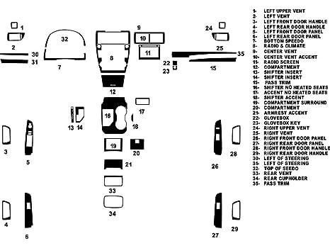 Rvinyl Rdash Dash Kit Decal Trim for Toyota Camry 2012-2014 Rust Brooklyn