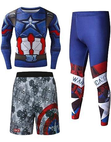 JEELINBORE Herren 2pcs Fitness-Bekleidungsset Langarmshirt Funktionsshirts Top /& Leggings Jogginghose Slim Trainingshose
