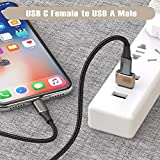 USB C Female to USB Male Adapter (2 Pack),Type C to