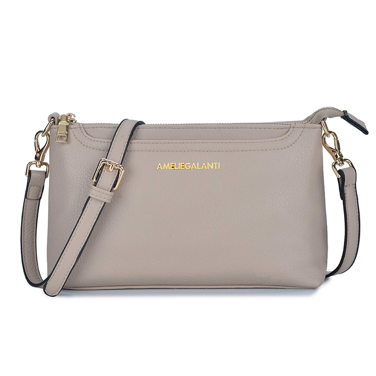 Crossbody Bags for Women, Lightweight Purses and Handbags PU Leather Small Shoulder Bag Satchel with Adjustable Strap by AMELIE GALANTI