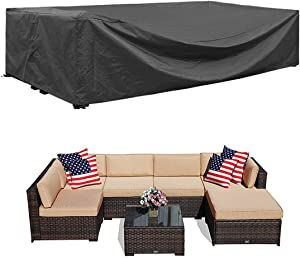 Patio Furniture Sectional Set Cover Waterproof Outdoor Sofa Set Covers Patio Conversation Set Cover Outdoor Table and Chair Set Covers Water Resistant Large 98