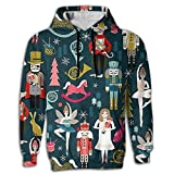Ballet Printed Oversized Long Sleeve Men Hoodie Pocket Hooded For Hipster Gym