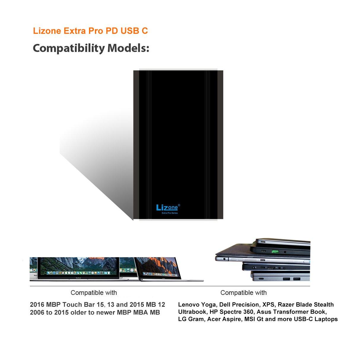 Amazon.com: Lizone 50000 mAh Extra Pro Cargador de batería ...