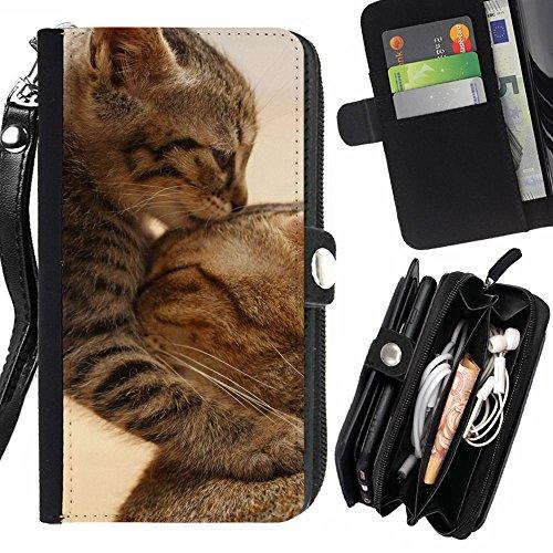 STPlus Gato en una caja Animal Monedero Con Correa y Cremallera Carcasa Funda para Huawei Mate 9 #5