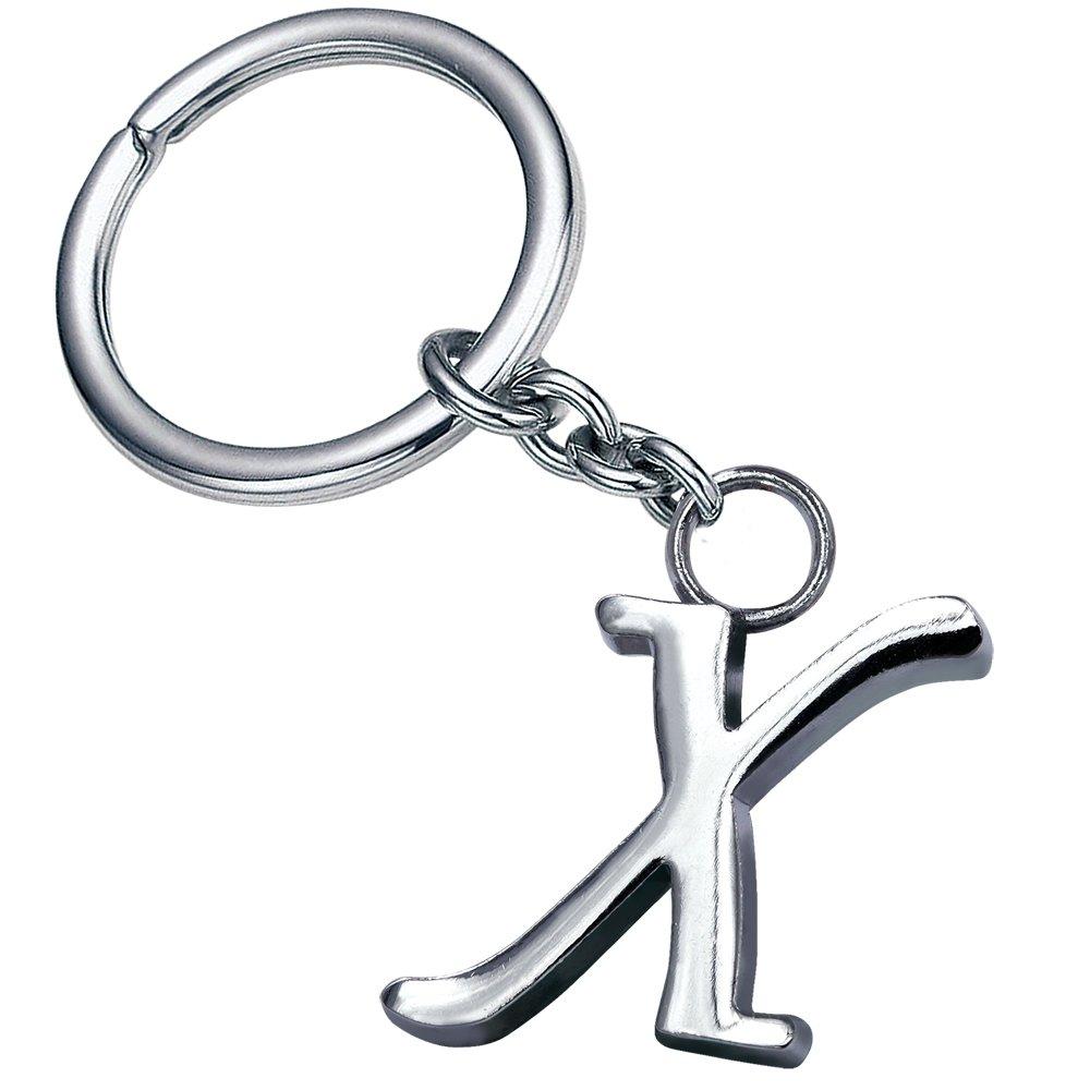 Stylish Letter X Simple Alphabet Key Ring Creative Packaging Design Box Z-344