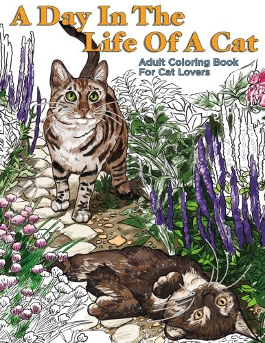 Day Life Cat Adult Coloring product image