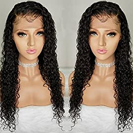 Pre Plucked Lace Front Wigs with Baby Hair Curly Hair Full Lace Wigs for Black Women Brazilian Remy Human Hair Wigs (14…