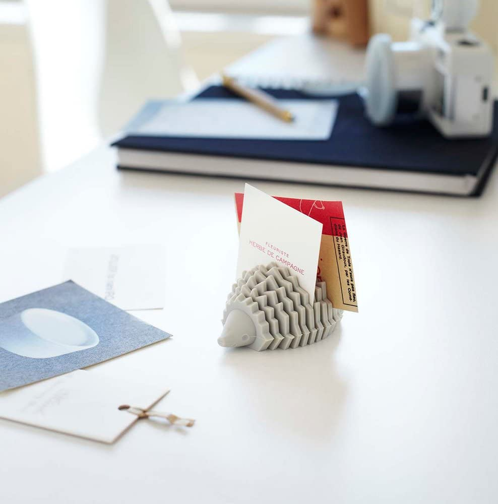 YAMAZAKI home 7407 Silicone Animal Card-Holder – Paper Organizer for Desk or Office, Brown: Home & Kitchen