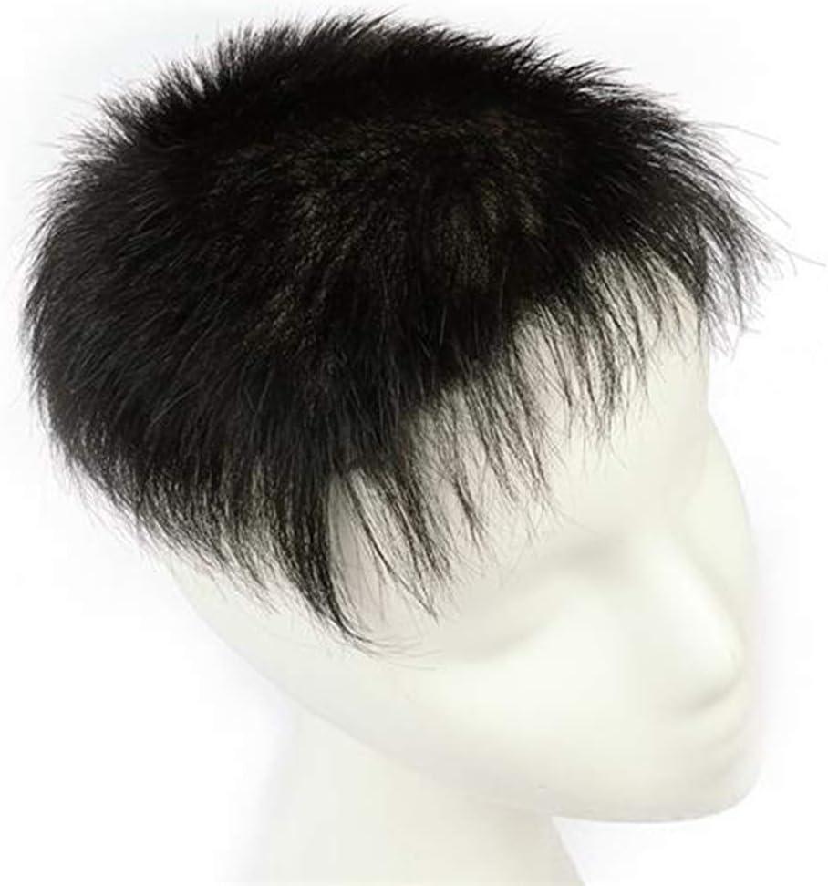 Linannav - Peluca de pelo real trenzada a mano para hombre ...