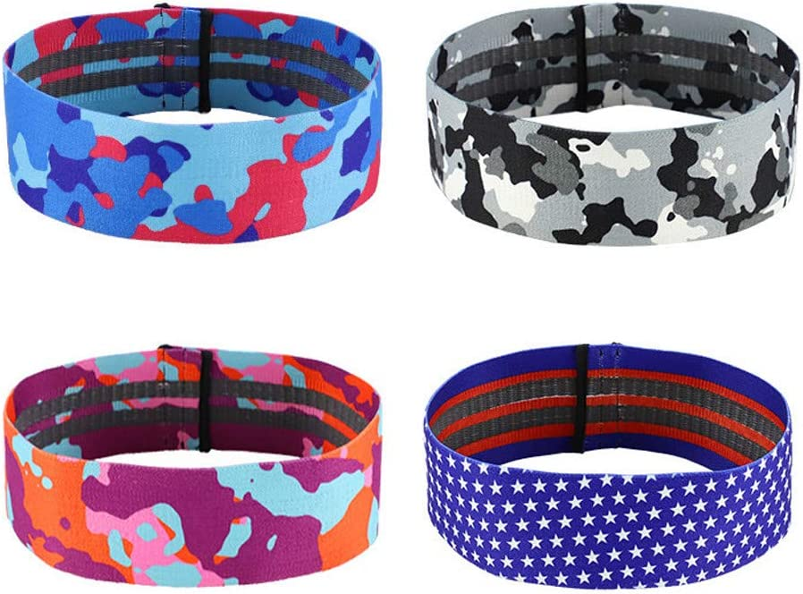 Resistance Bands for Legs and Butt L, Blue Non Slip Camo Booty Band Hip Thruster Loop Resistance Bands Wide Exercise Bands Workout Yoga Hip Band for Squats//Deadlifts//Yoga//Sport