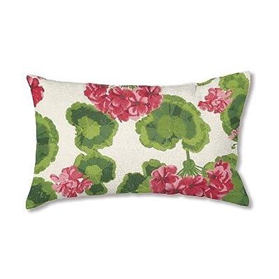 Plow & Hearth 35674-13 Weather-Resistant Outdoor Classic Lumbar Pillow, Geranium : Garden & Outdoor