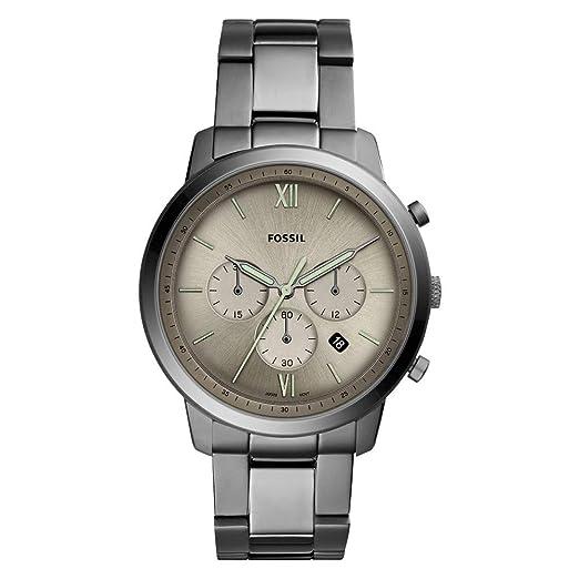 Fossil Reloj Cronógrafo para Hombre de Cuarzo con Correa en Acero Inoxidable FS5492: Amazon.es: Relojes