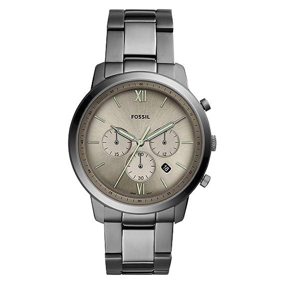 e81a0d4132b2 Fossil Reloj Cronógrafo para Hombre de Cuarzo con Correa en Acero Inoxidable  FS5492  Amazon.es  Relojes