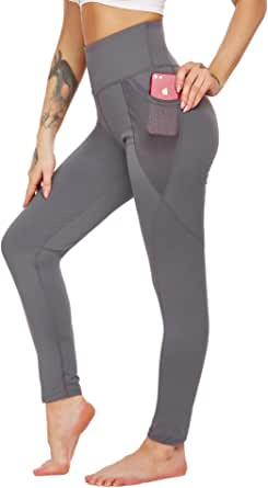 ADOME High Waisted Leggings for Women with Pockets, Soft Tummy Control Yoga Pants, Pants for Running Cycling Workout
