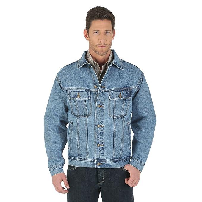 Amazon.com: Wrangler Campera de jean resistente, sin forro ...