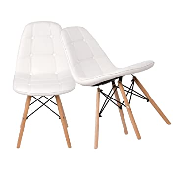 Amazon.de: 2er Set Küchenstühle / Esszimmerstühle Retro Design ...