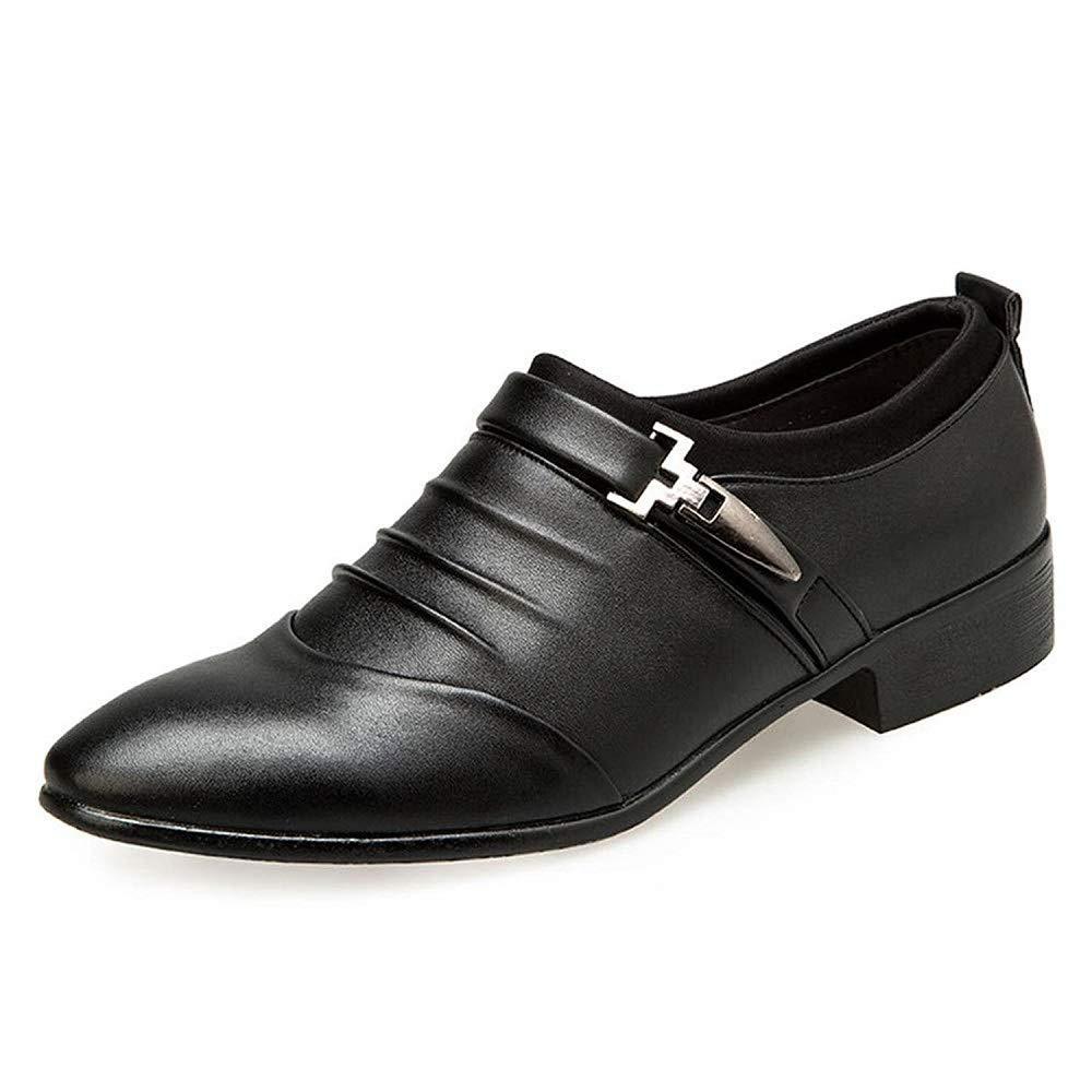 Chaussures Hommes Ville Cuir Derby Pointu Hiver Mariage Dressing Oxford Pointu Derby Business Vintage Mode Uniforme Boucle Derbi Blanc Noir Marron 38-48 41 EU|Noir 9a4e33
