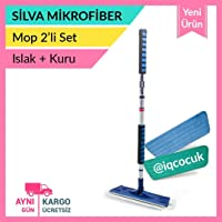 Silva Mikrofiber Sopalı Mop Set (Kuru bez + ıslak bez)