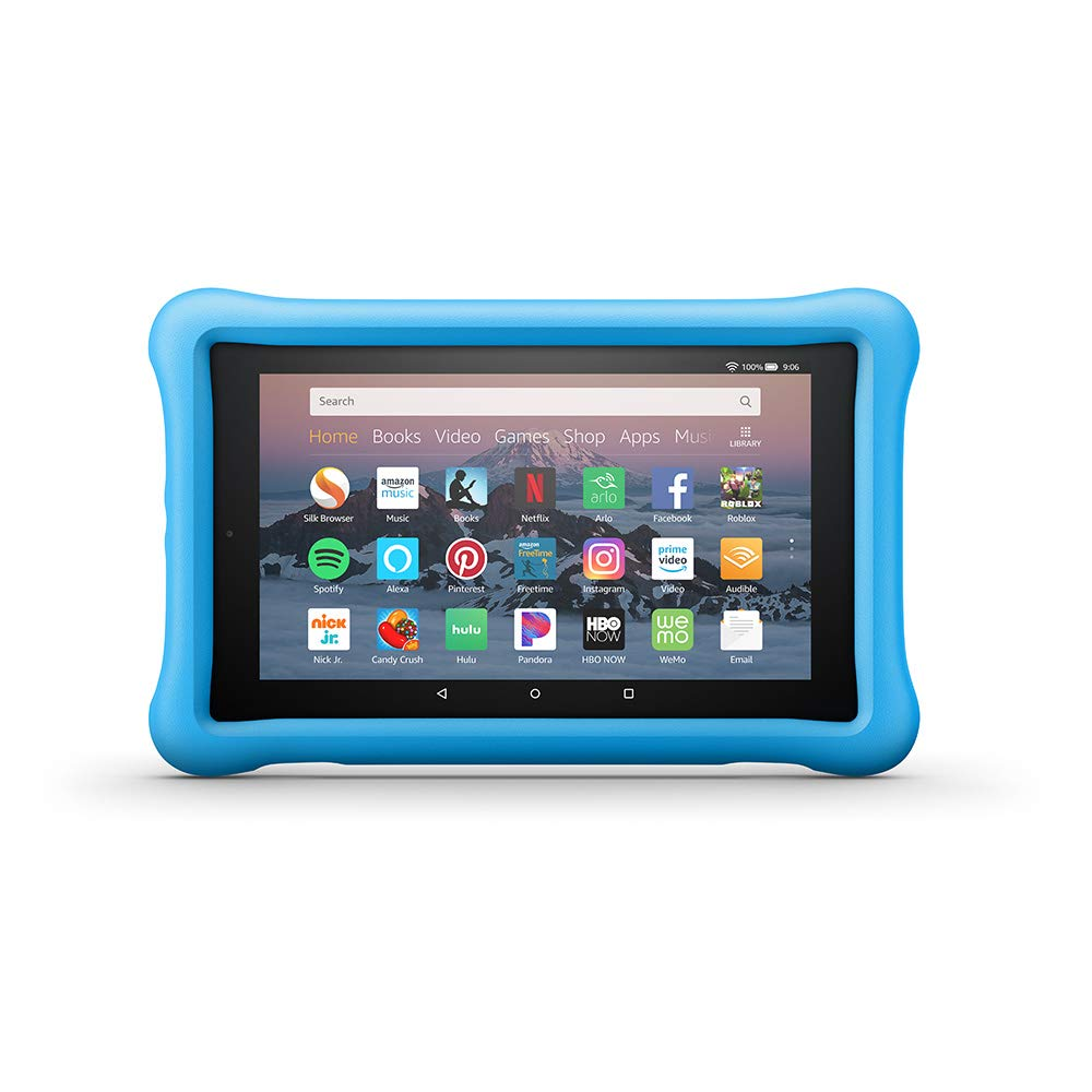 06fc81fba1cf36 Amazon.com: Amazon Kid-Proof Case for Amazon Fire HD 8 Tablet (Compatible  with 7th and 8th Generation Tablets, 2017-2018 Releases), Blue: Kindle Store