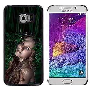 iKiki Tech / Estuche rígido - devochka vesnushki portret - Samsung Galaxy S6 EDGE SM-G925