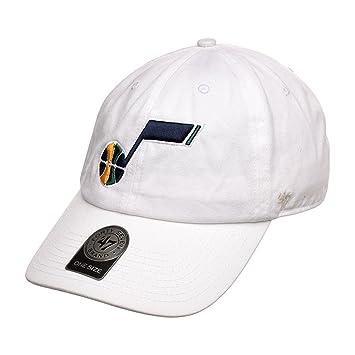 47 marca limpiar Utah Jazz Nota Logo Gorra Ajustable (blanco ...