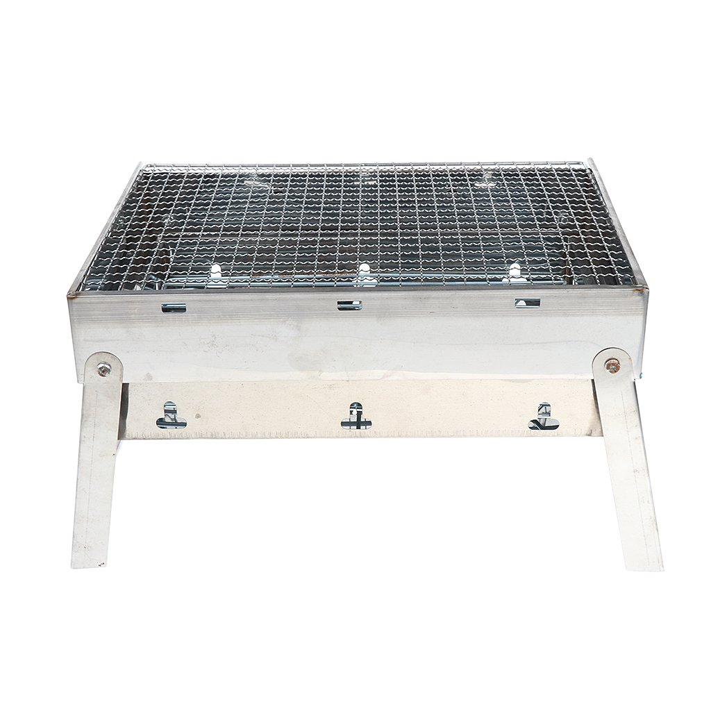 Homyl Portable Charcoal Grill for Outdoor Grilling Barbecue Grill Rectangular BBQ Rack Outdoor Picnic Patio Backyard Camping Cooking for Steak Chicken