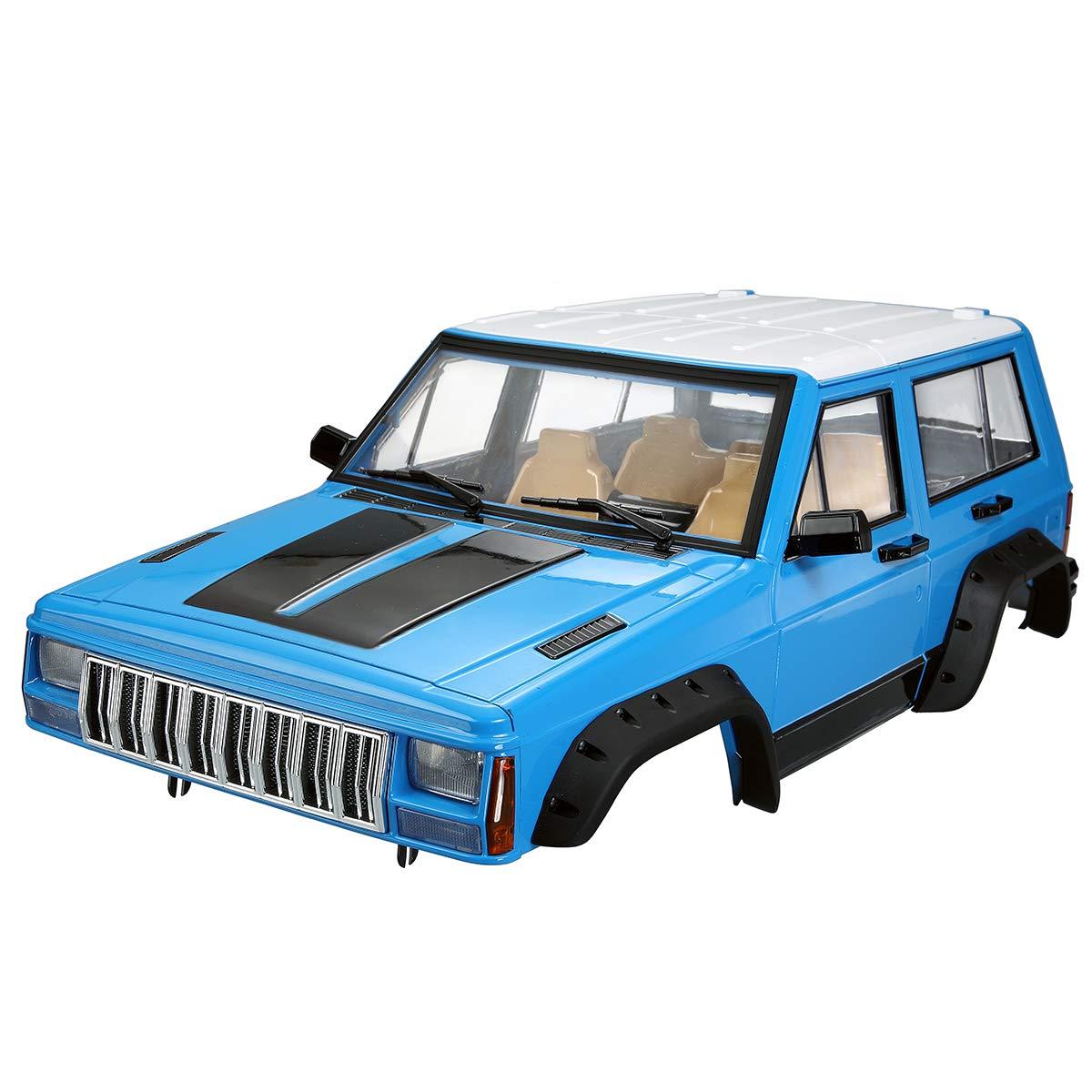PinShang 313 mm Radstand Autokarosserie-Set Zubehör für Axial SCX10 RC4WD D90 RC Car 1 10 Rock Crawler Teile rot Blau