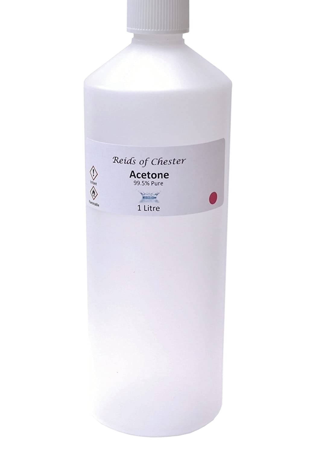 1 Litre Pure Acetone, Nail Polish Remover and Acrylic Nail Remover, Salon Grade from Reids of Chester