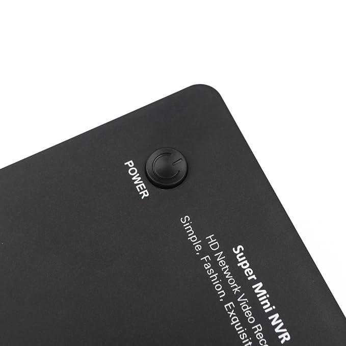 KKmoon 8 ch Mini NVR IP Cámara Grabadora Vigilancia 1080P/960P/720P HD Cloud P2P ONVIF HDMI E-SATA HDD Connection 2 USB: Amazon.es: Informática