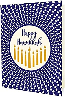 product image for Night Owl Paper Goods Radiant Hanukkah Folded Holiday Cards, Box Of 10