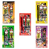 Big Roll Crispy Grilled Seaweed Variety Pack (Spicy, Classic, Tom Yum, BBQ, Squid) - 5 Boxes