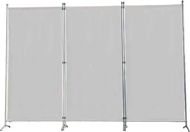 Angel Living Biombo Grande de 3 Paneles, Decoración Elegante, Separador de Ambientes Plegable, Divisor de Habitaciones, 250X170 cm (Gris): Amazon.es: Hogar