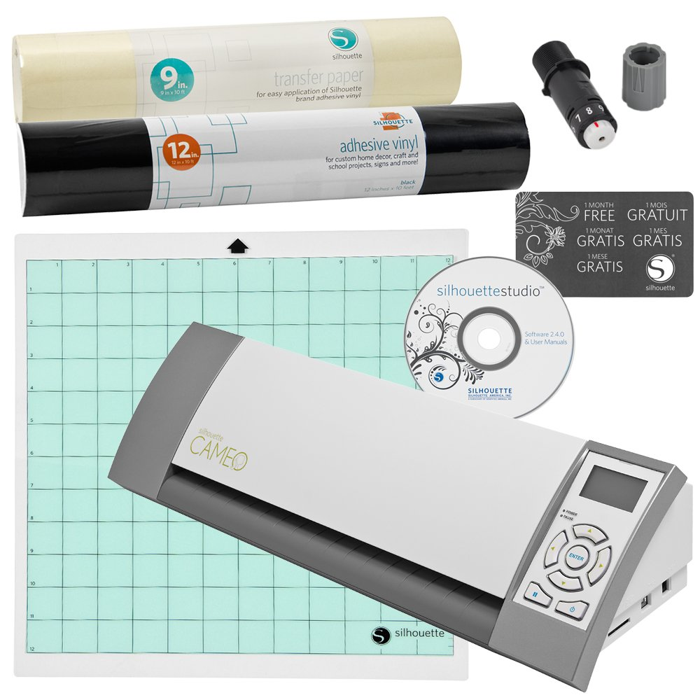 Silhouette Cameo Material Cutting Printer - Ideal for Scrapbooking, Vinyl, Stencils, and more
