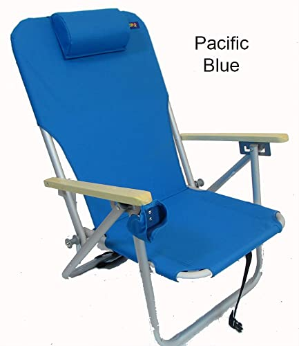 COPA 4 Position Aluminum Folding Backpack Chair – Pacific Blue