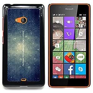 """Qstar Arte & diseño plástico duro Fundas Cover Cubre Hard Case Cover para Nokia Lumia 540 (Imaginación Inspiring Azul Líneas onduladas"""")"""