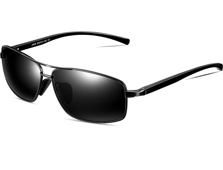 6d9795c586 ATTCL Men s Sunglasses Rectangular Driving Polarized Al-Mg metal Frame  Superlight