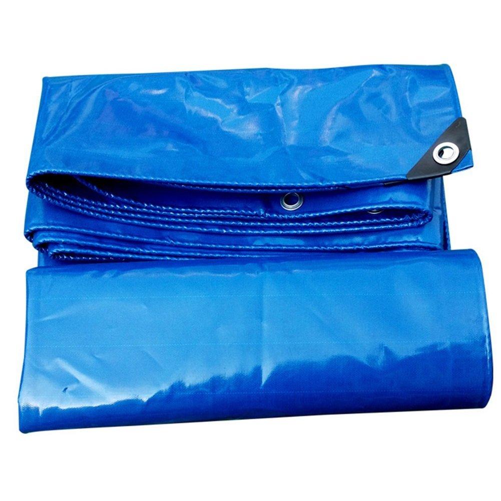 bleu 6x3m Auvent de jardin BÂche imperméable bleu, double face lourde tissu imperméable et froid anti-poussière de prougeection solaire camion tente de camping abri de couverture de jardin feuille de bÂche durabl
