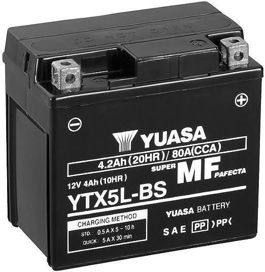 Batterie Yuasa Ytx5l Bs 12v 4ah Maße 114x71x106 Für Arctic Cat Dvx50 Baujahr 2008 Auto