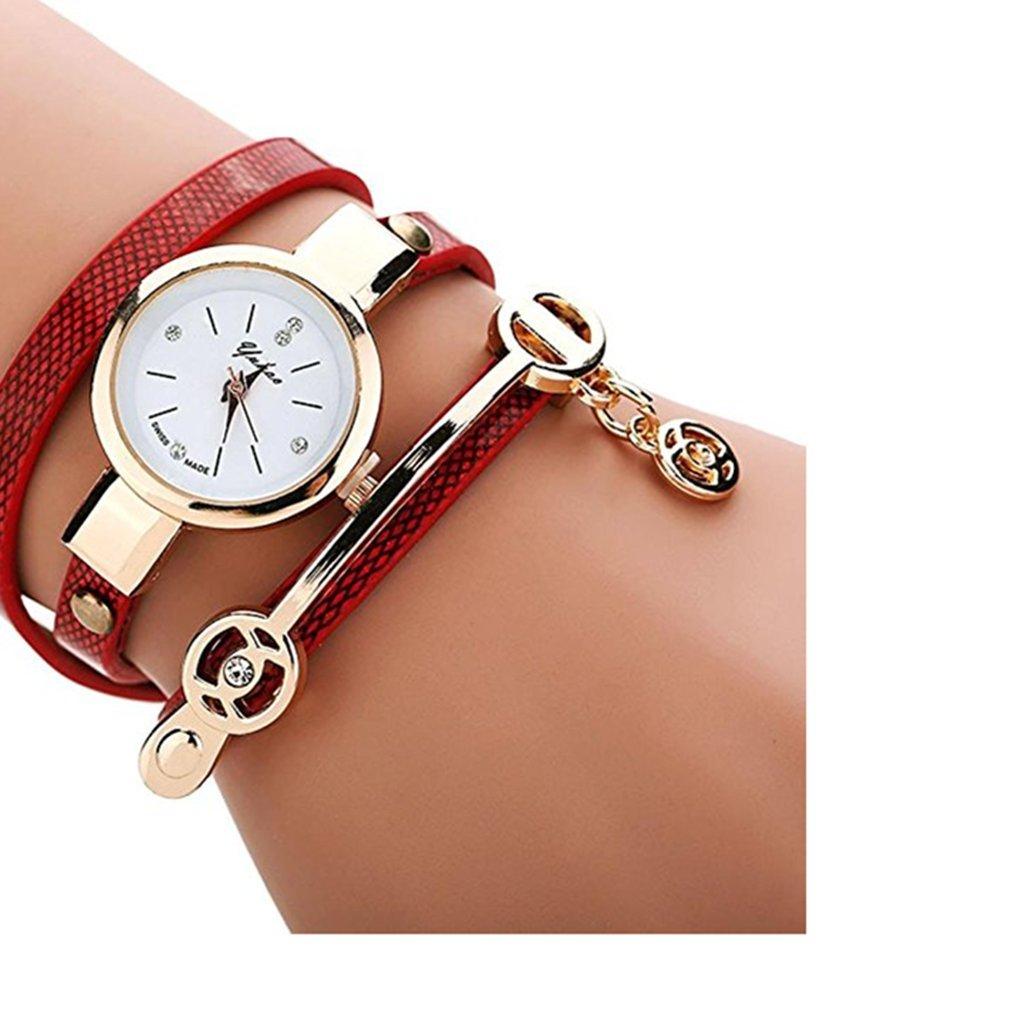 Clearance!Toosvan Women Watch on Sale Leather Metal Strap Analog Quartz Wrist Watch Gift by Waroomvan Watch (Image #1)