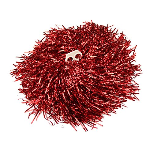 [1Pair Red Plastic Cheerleader Cheerleading Pom Poms Party Costume Accessory Set Ball Dance Fancy Dress Night Party Sports Pompoms] (Hen Night Costume Accessories)