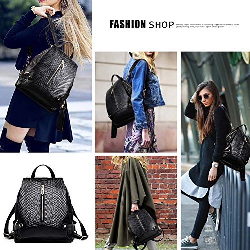 Girls Grain School Purse Royal Handbag Yoome Shoulder Women Alligator Blue Leather Capacity Bag for Bookbag Large Backpack 6Hqfp1