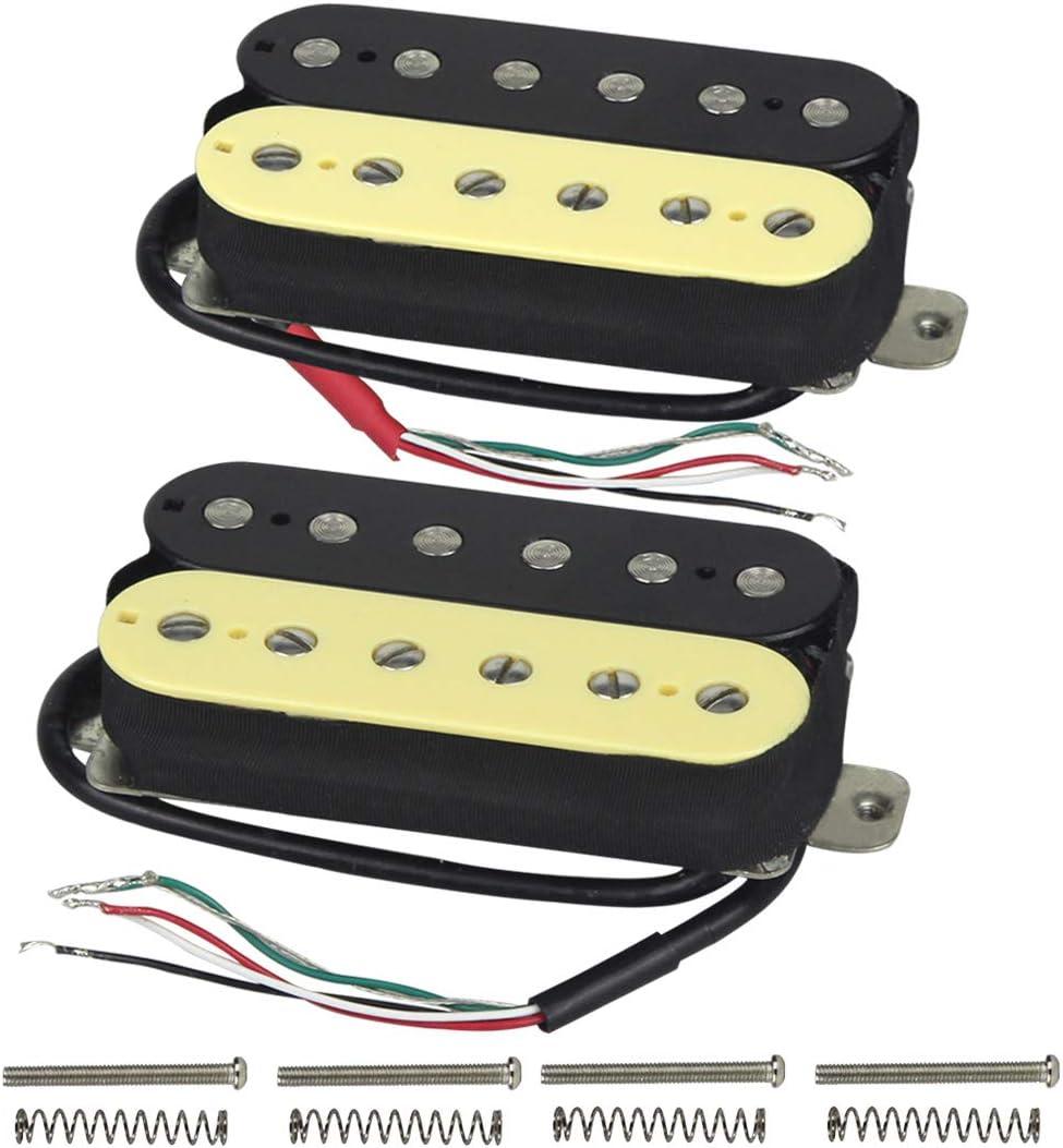 Amazon.com: FLEOR High Output Alnico 5 Guitar Pickup Double Coil Humbucker  Pickups Neck and Bridge Set (Cream+Black): Musical InstrumentsAmazon.com